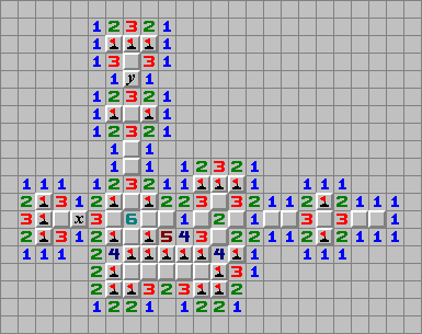 Minesweeper and Logical Circuits